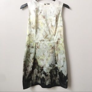 Elie Tahari Abstract Watercolor Shift Dress